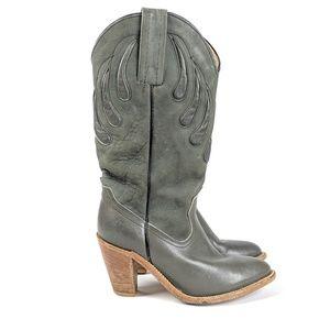 Frye Shoes - Frye Grey Western Cowboy Boots